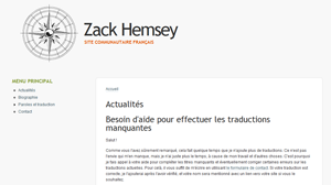 Site communautaire français sur Zack Hemsey